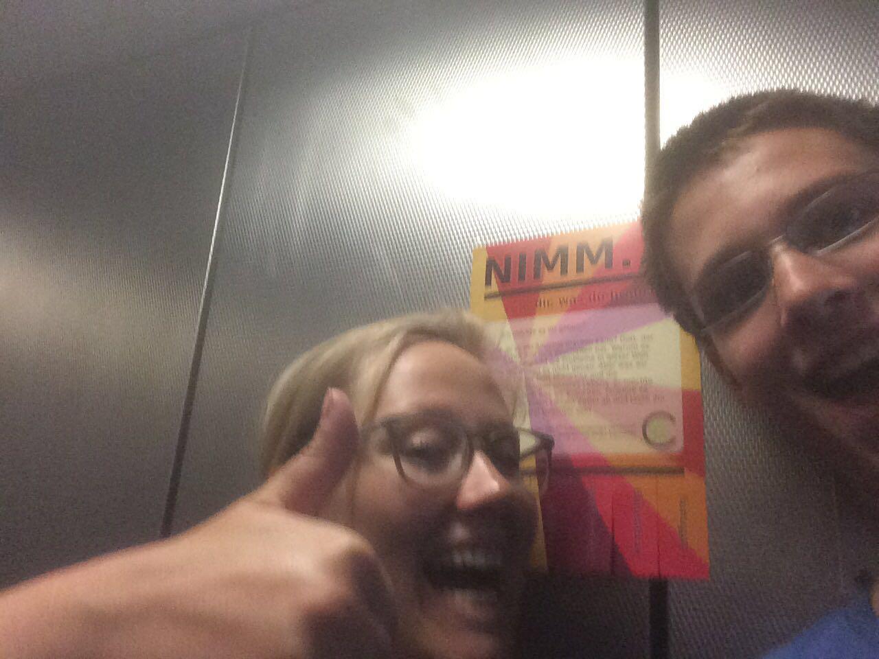 Auch im Fahrstuhl macht sich sowas gut!